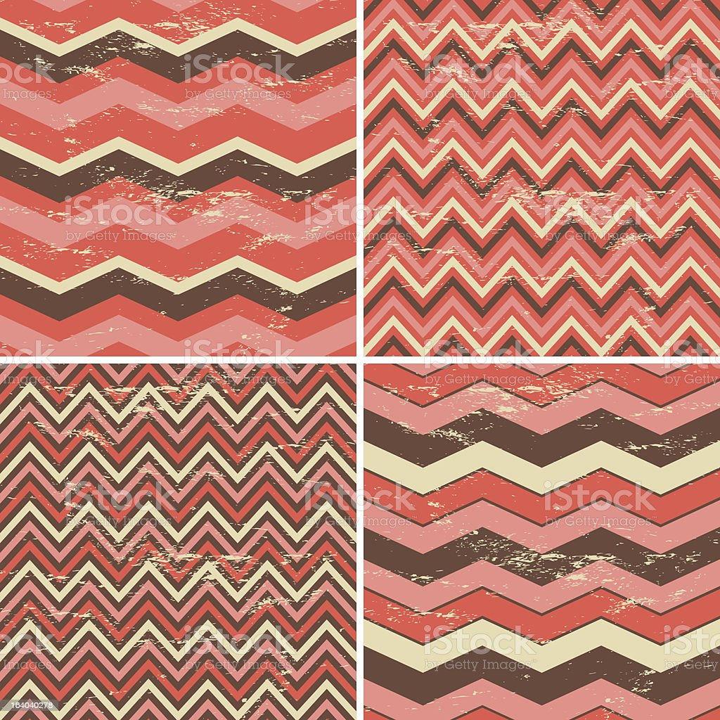 Seamless Chevron Patterns Collection royalty-free stock vector art