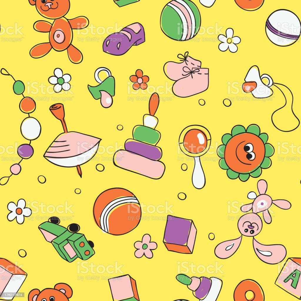 Seamless children background royalty-free stock vector art