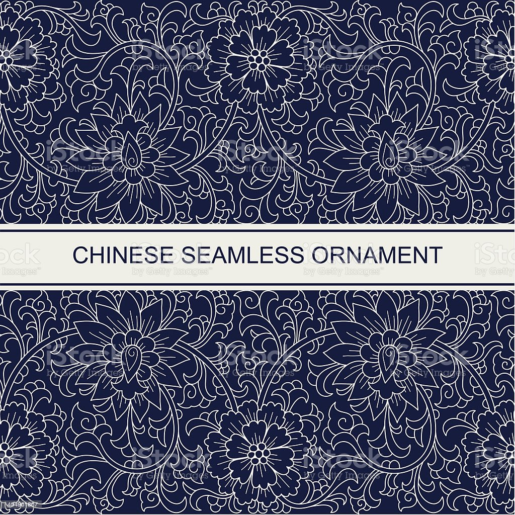 Seamless chinese ornament vector art illustration