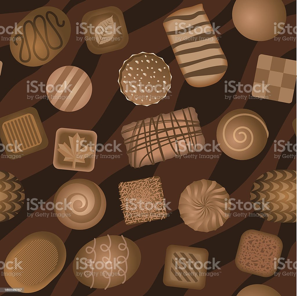 Seamless chocolate background royalty-free stock vector art