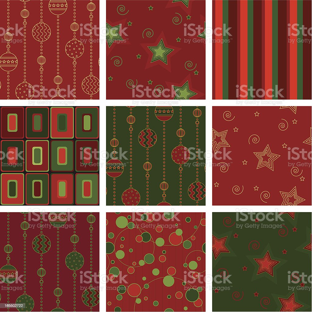 Seamless christmas background -- red_green royalty-free stock vector art