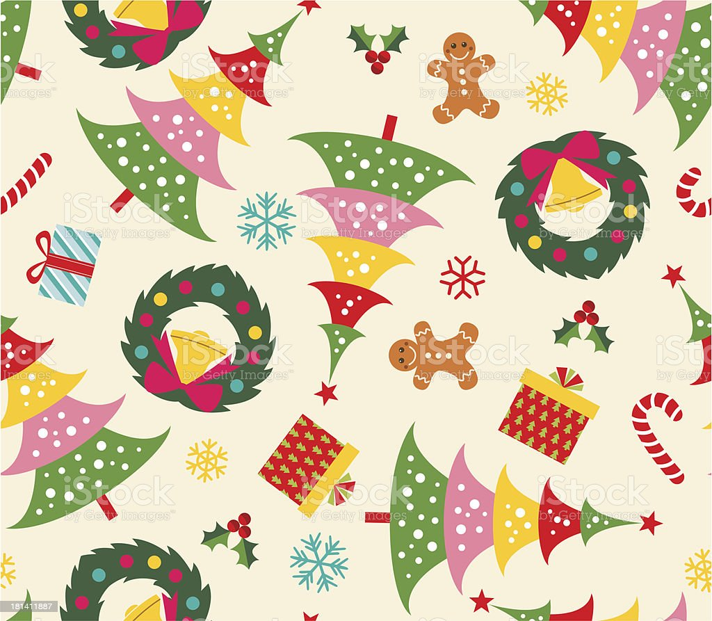 seamless christmas background royalty-free stock vector art