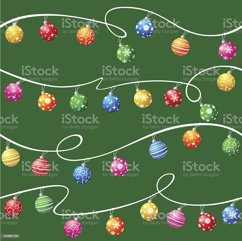 Seamless Christmas ball wallpaper royalty-free stock vector art