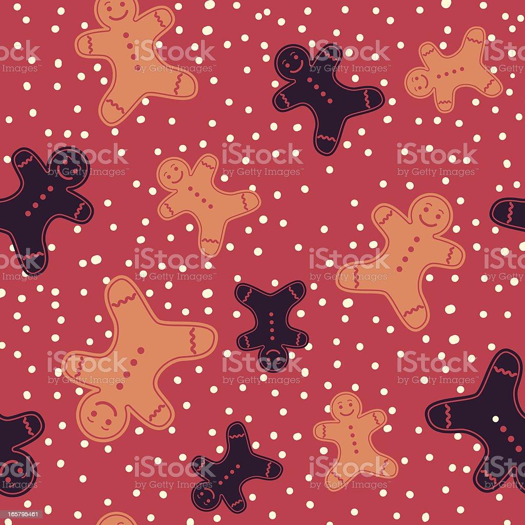 Seamless Christmas Gingerbread man Pattern royalty-free stock vector art