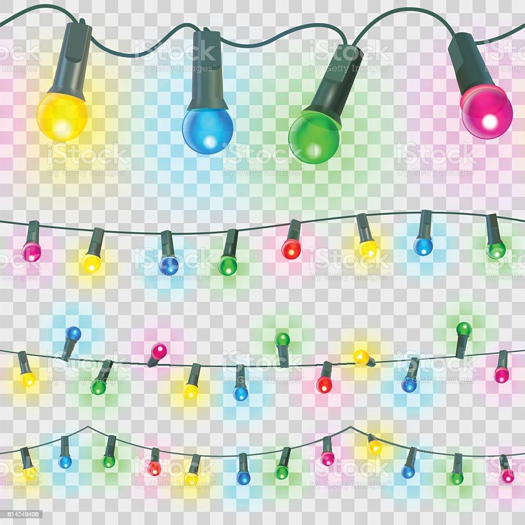 seamless christmas light vector art illustration