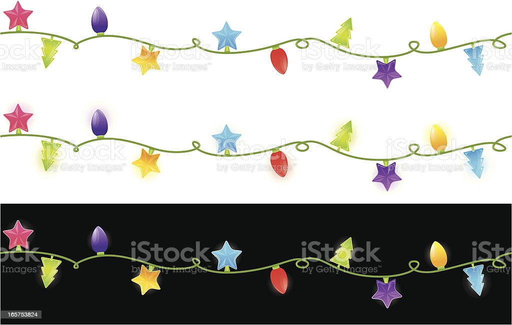 Seamless christmas lights royalty-free stock vector art