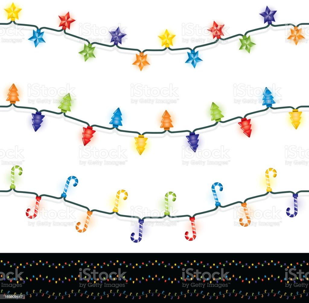 Seamless Christmas lights royalty-free stock vector art