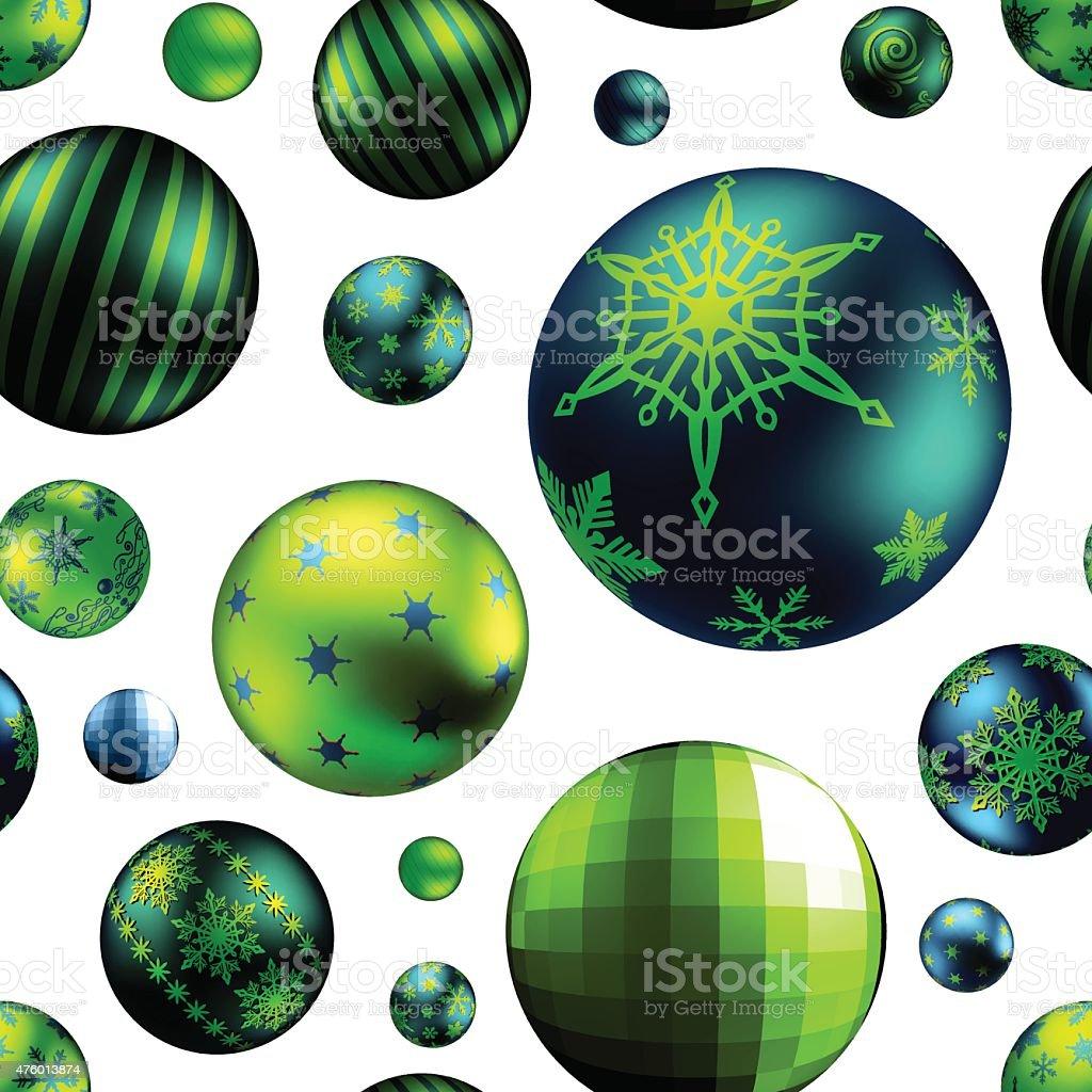 Seamless Christmas Pattern - Ornaments vector art illustration