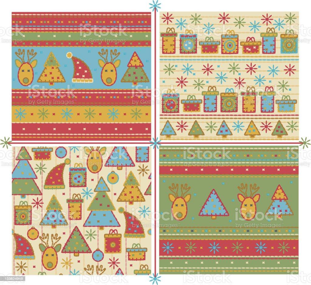 Seamless Christmas pattern. royalty-free stock vector art