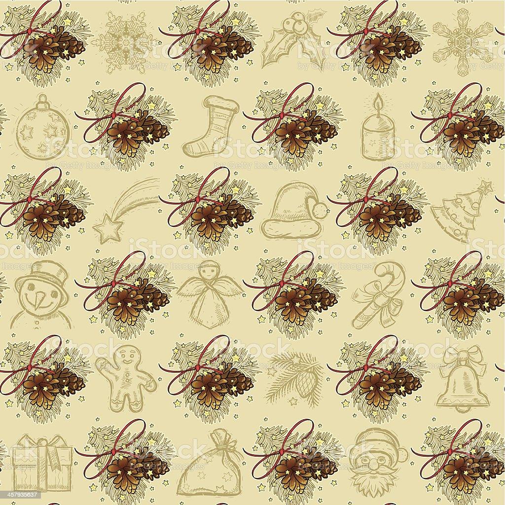 seamless Christmas Pattern vector art illustration