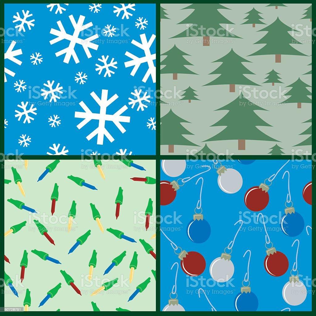 Seamless Christmas royalty-free stock vector art