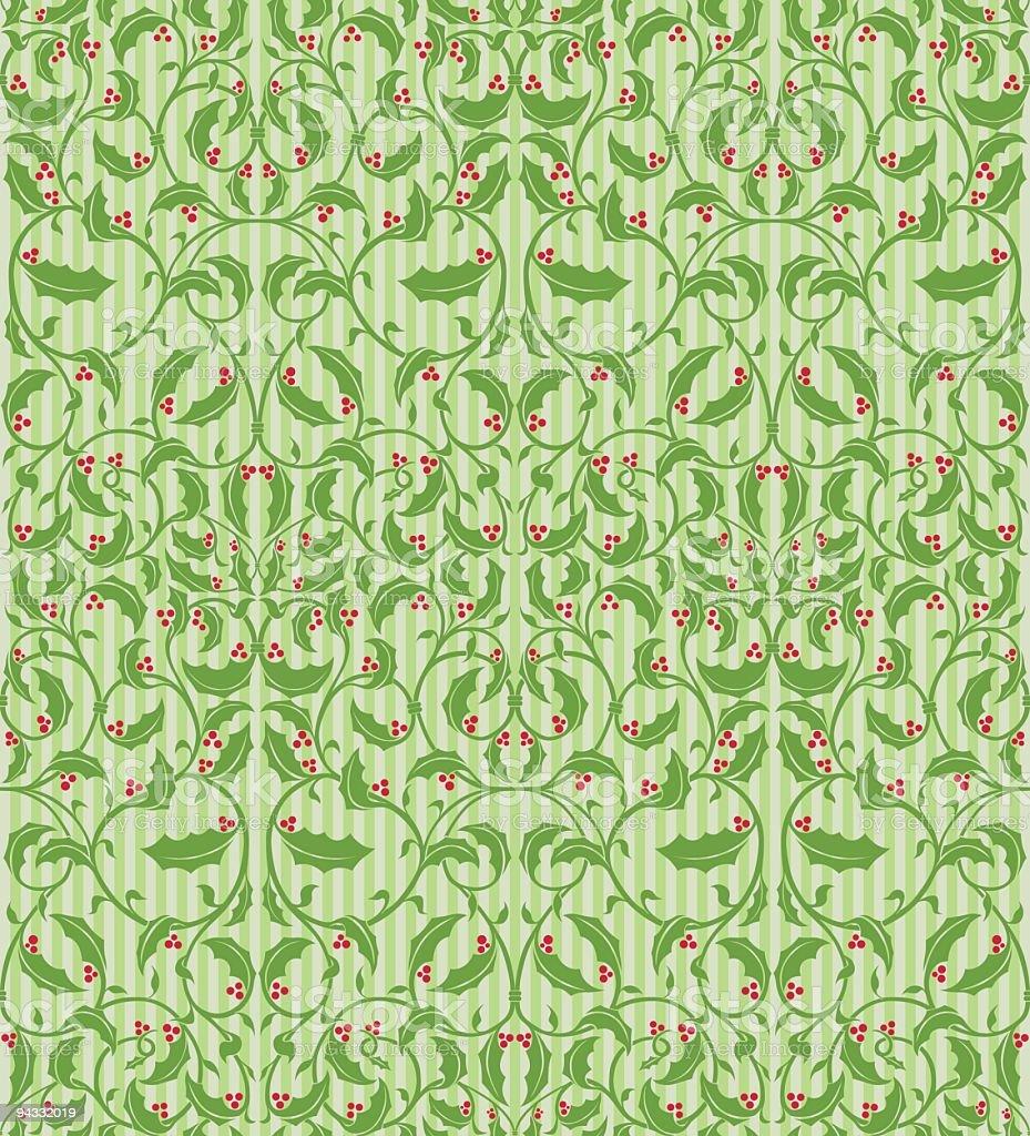 Seamless Christmas Wallpaper royalty-free stock vector art