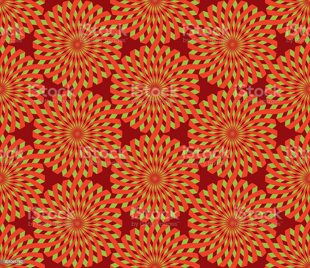 Seamless Christmas wrapping paper pattern vector art illustration