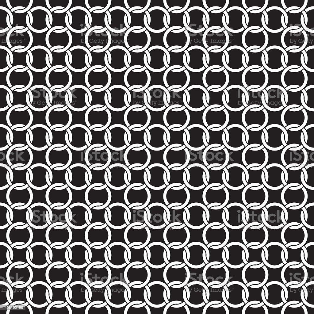 Seamless Circle Chain Interlink Pattern Background Texture vector art illustration