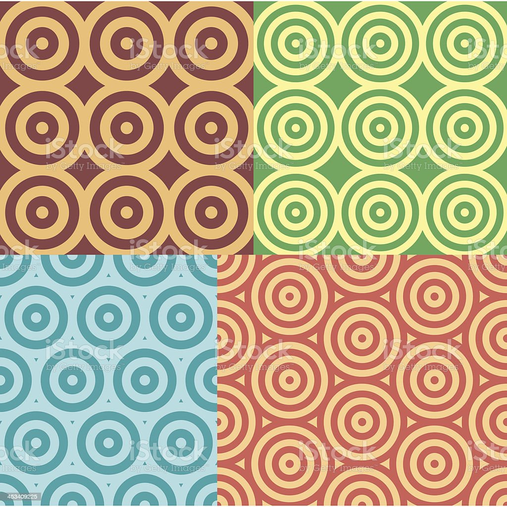 Seamless Circle Geometric Patterns vector art illustration