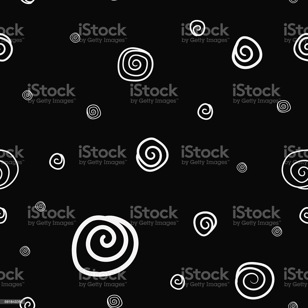 Seamless circles pattern vector art illustration