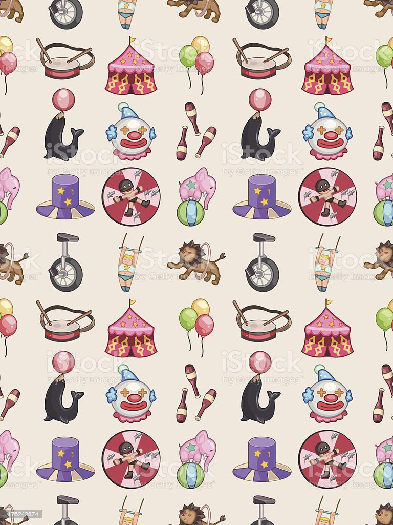 seamless Circus pattern royalty-free stock vector art