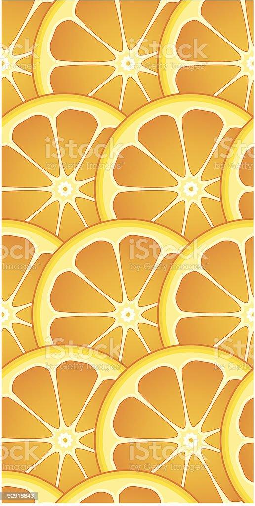 Seamless Citrus Orange Wallpaper Pattern vector art illustration