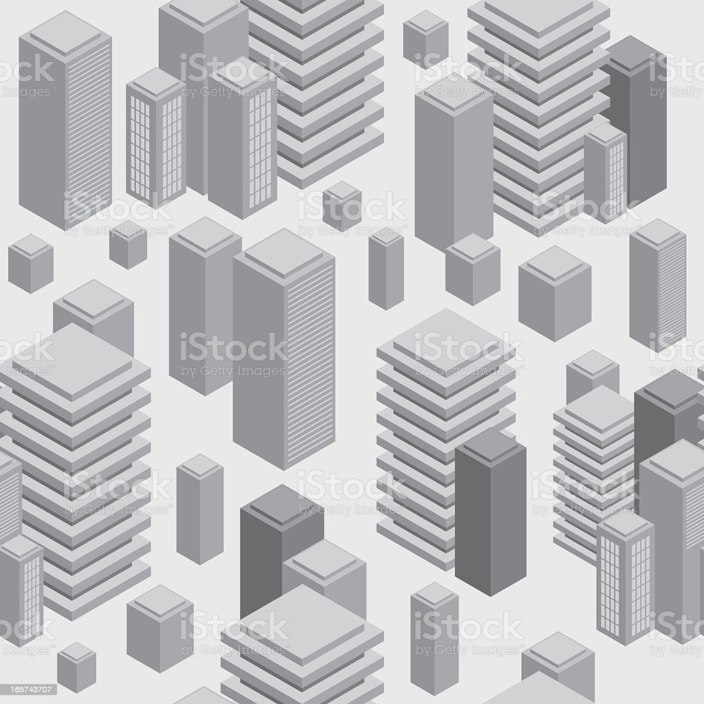 Seamless city pattern background royalty-free stock vector art