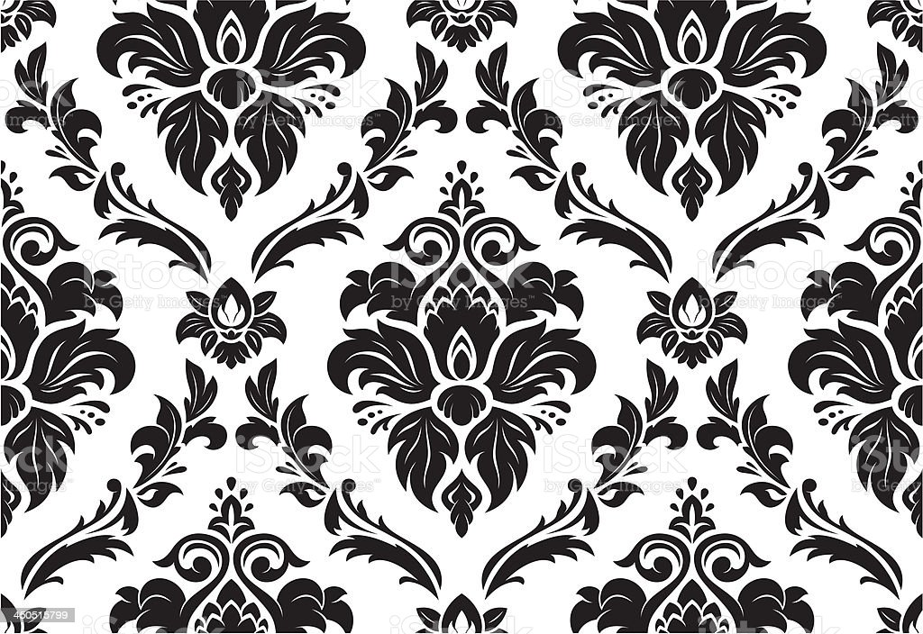 Seamless classic pattern vector art illustration