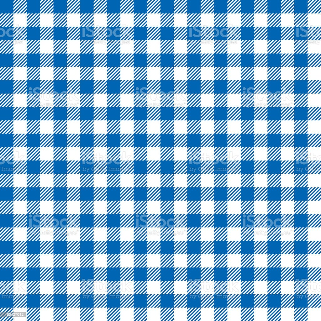 Seamless Coarse Blue Checkered Plaid Fabric Pattern Texture vector art illustration