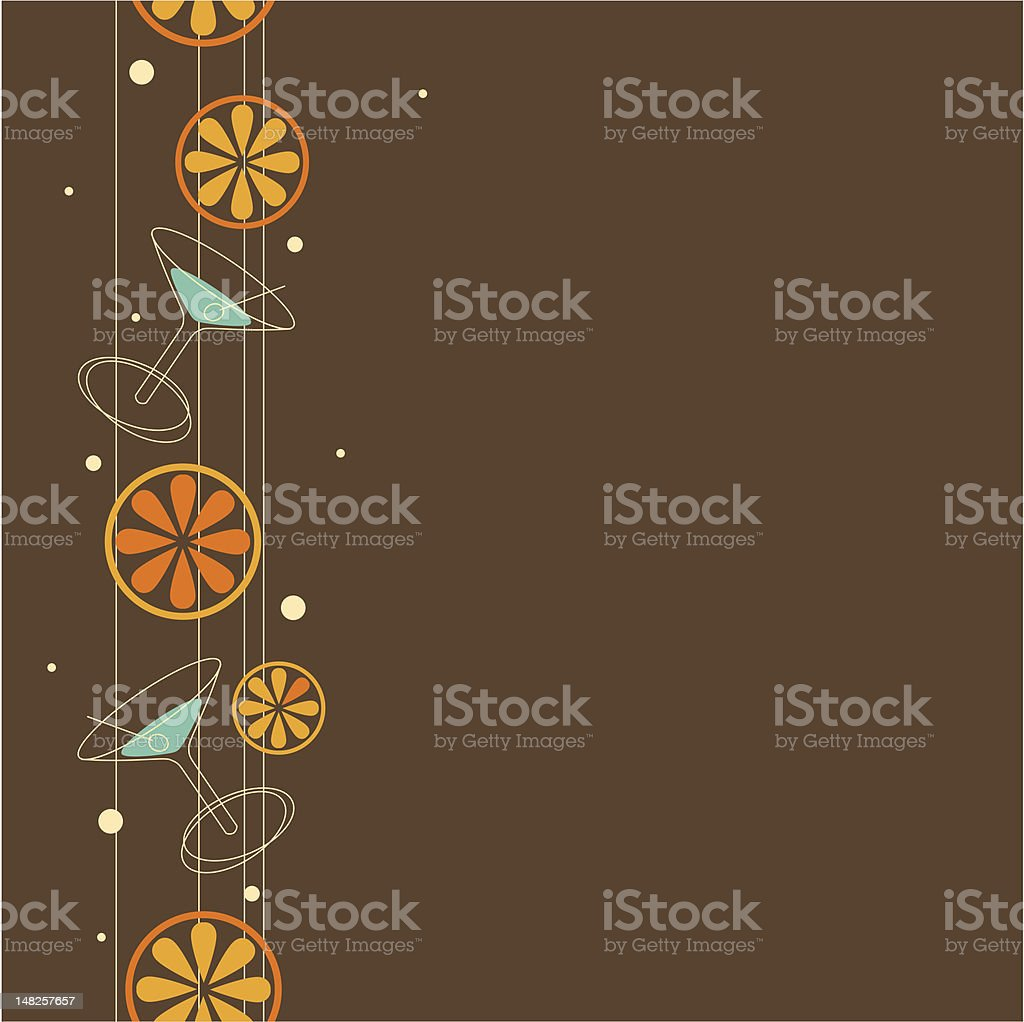 Seamless cocktail pattern royalty-free stock vector art