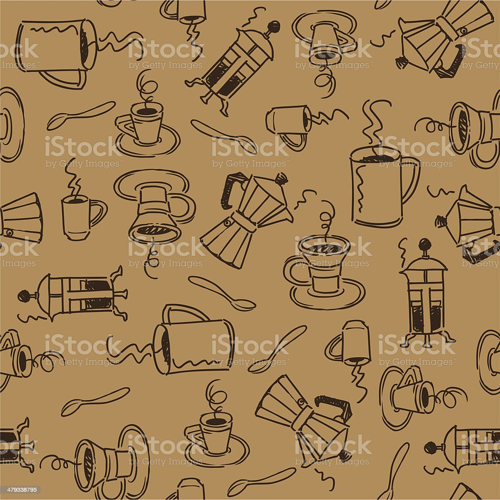 Seamless Coffe royalty-free stock vector art