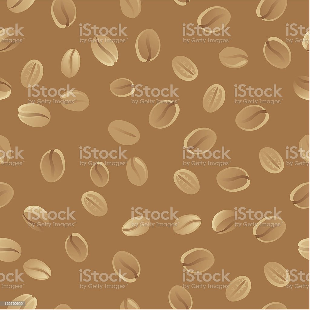 Seamless Coffee Bean Wallpaper royalty-free stock vector art