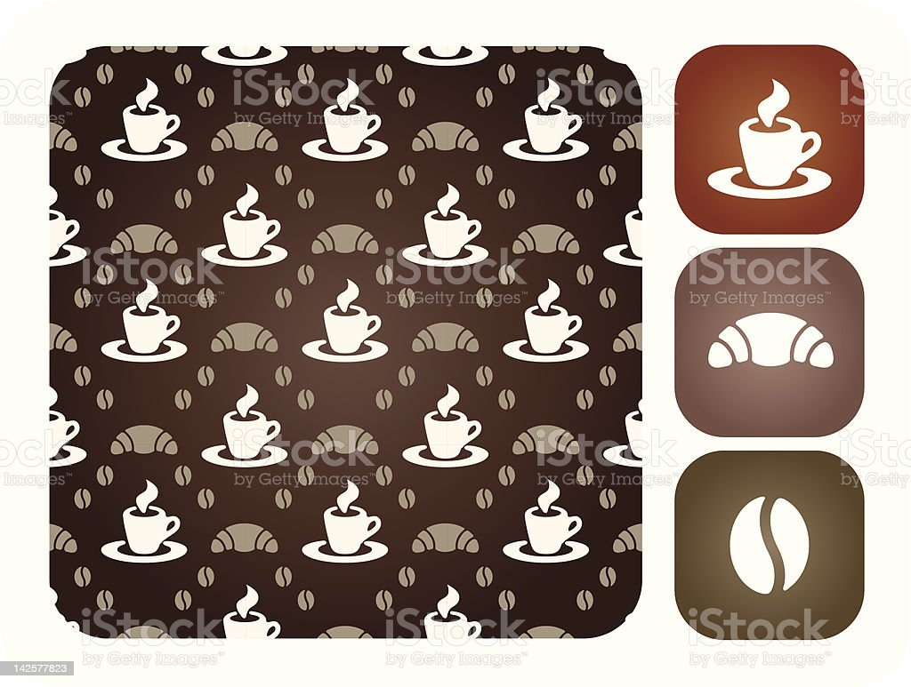 Seamless coffee pattern royalty-free stock vector art