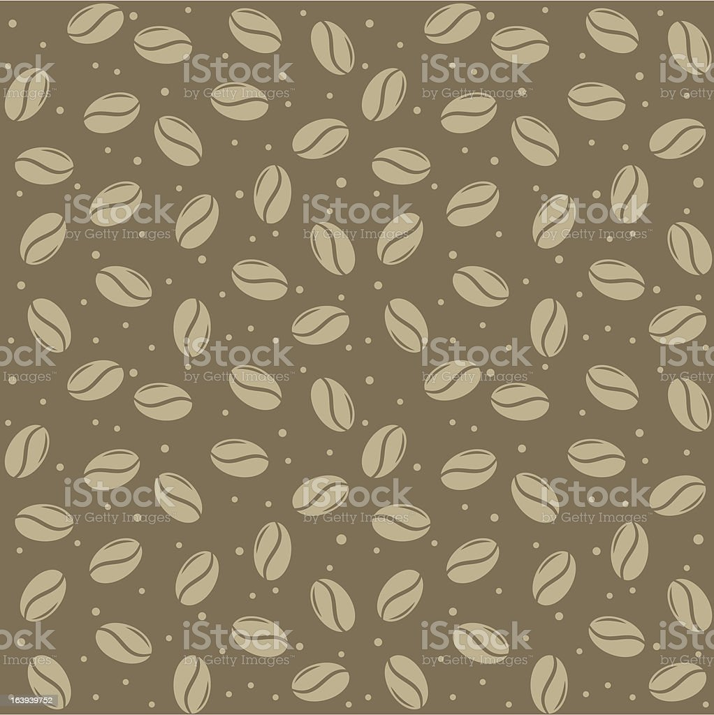 seamless coffee seed texture royalty-free stock vector art