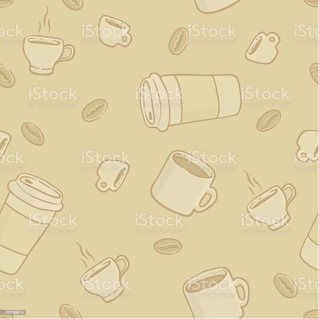 Seamless Coffee Wallpaper royalty-free stock vector art