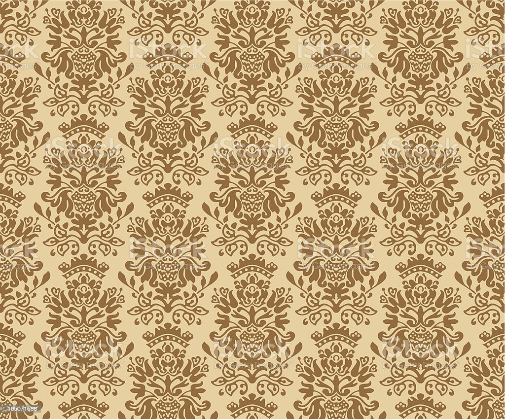 Seamless Colonial Pattern Vector vector art illustration