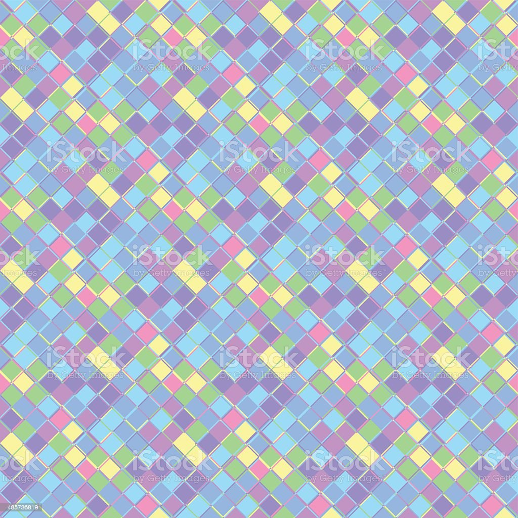 seamless colorefull pattern with squares in different sizes vector art illustration