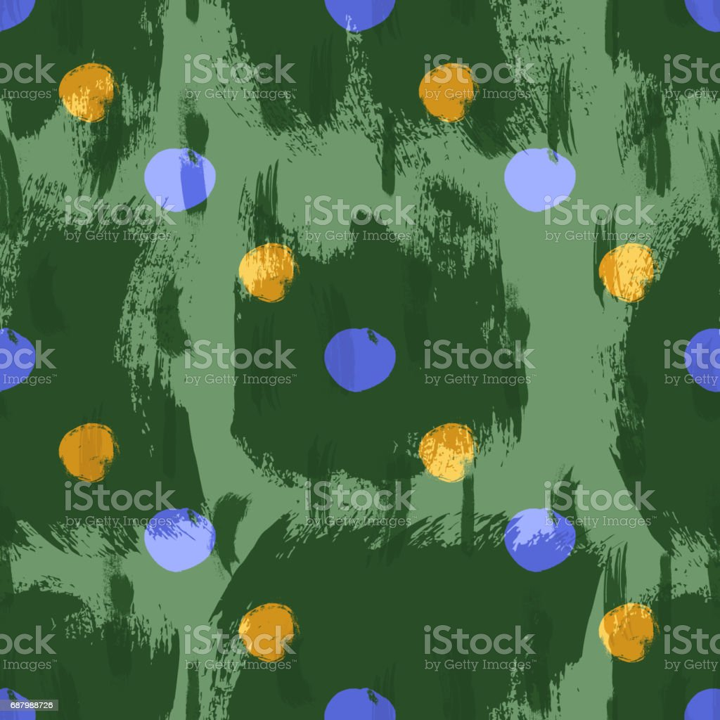 Seamless colorful pattern with circles vector art illustration