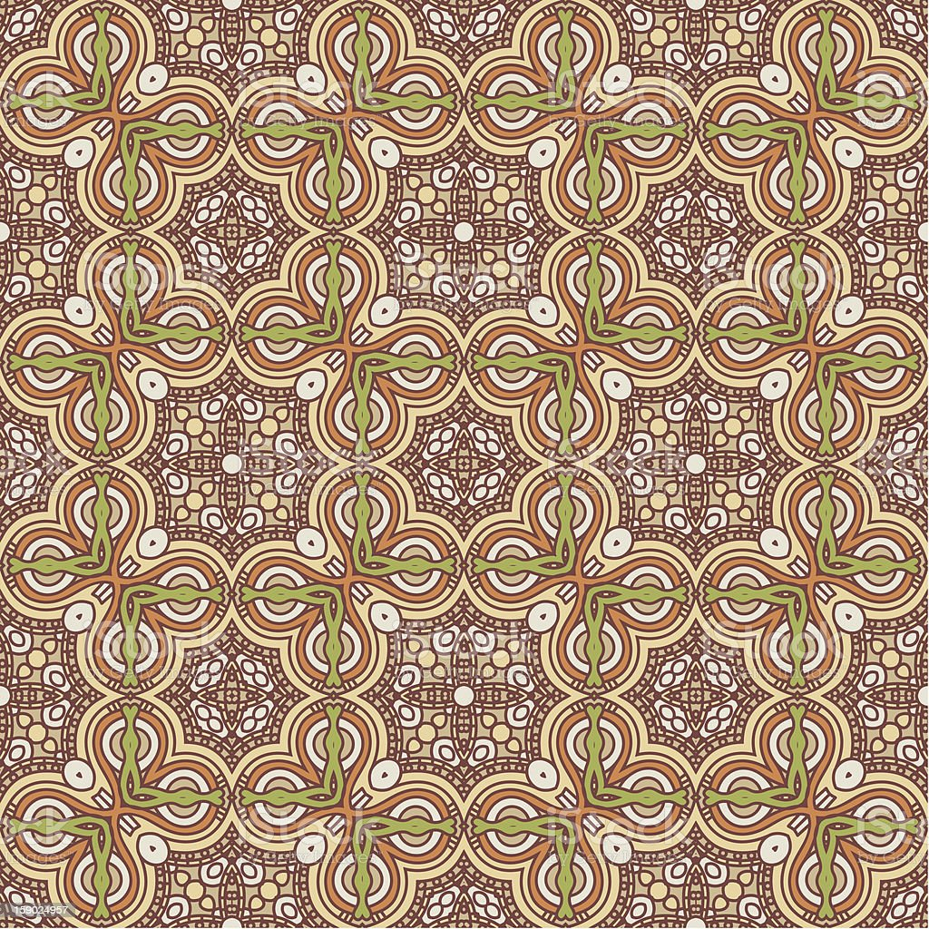 Seamless colorful retro pattern background royalty-free stock vector art