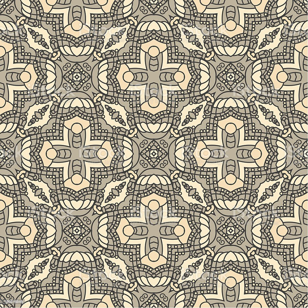Seamless colorful retro pattern background vector art illustration