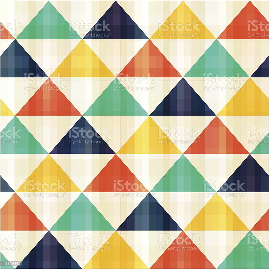 seamless colorful triangle pattern royalty-free stock vector art