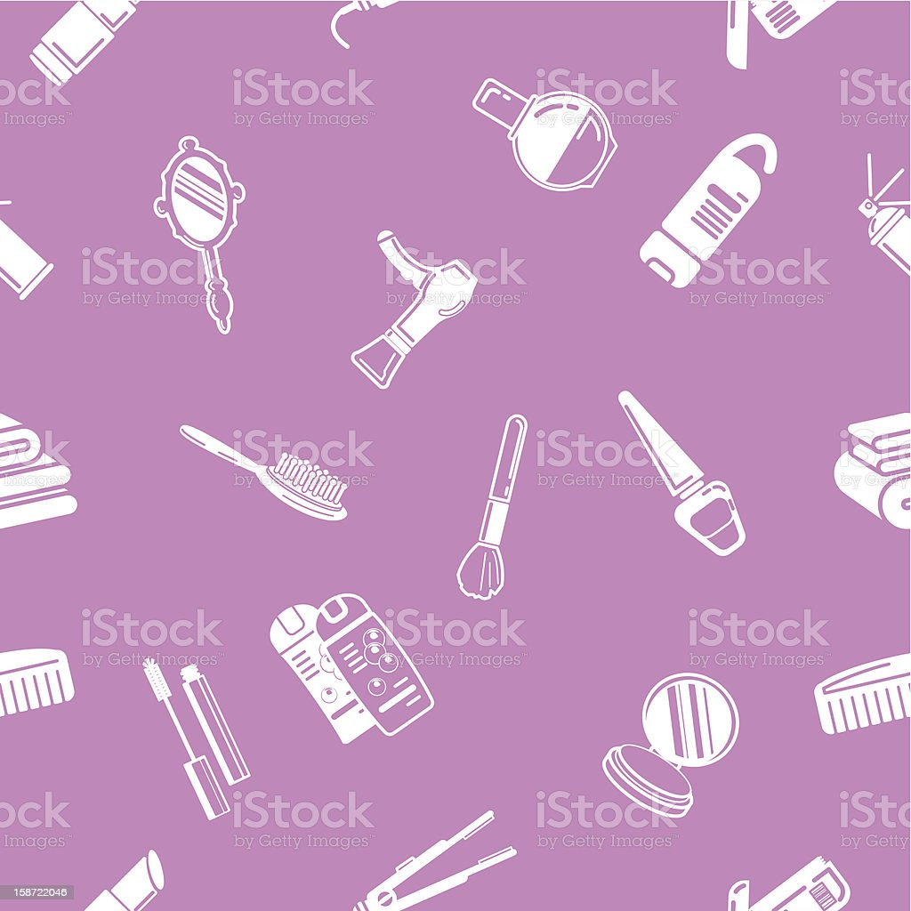 Seamless cosmetics background texture royalty-free stock vector art