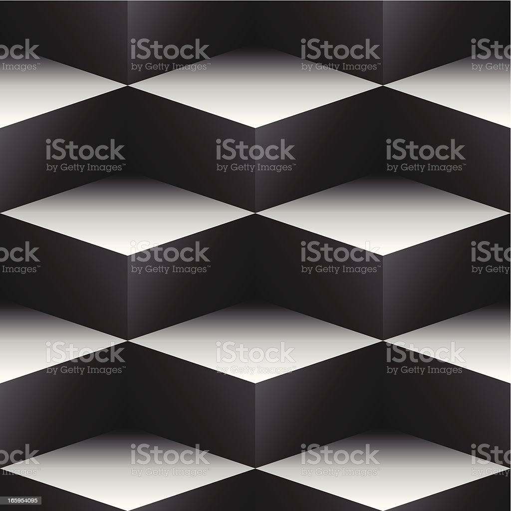 seamless cubes pattern vector art illustration