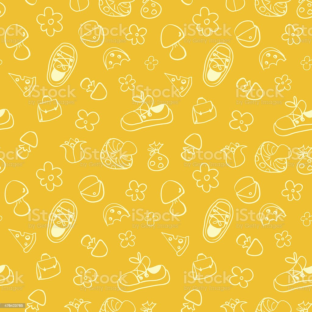 Seamless cute pattern for children. royalty-free stock vector art