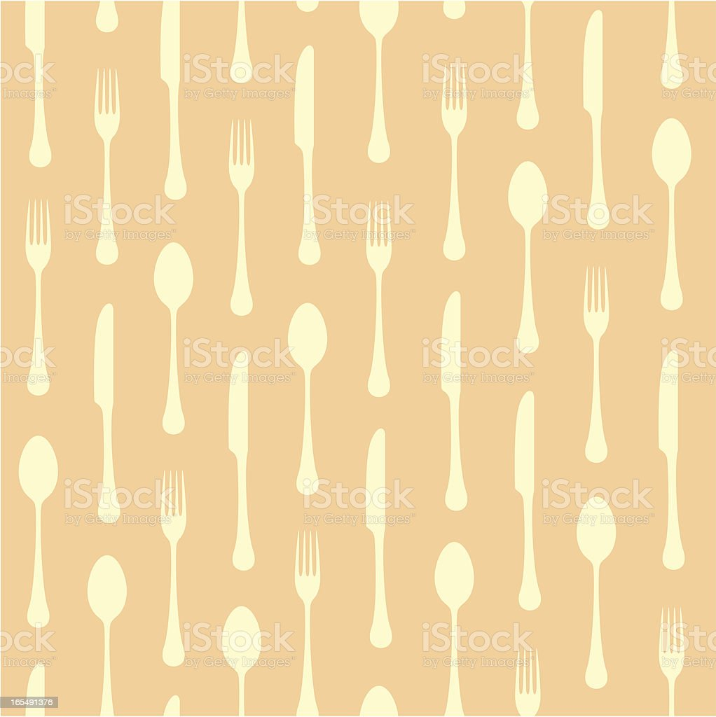Seamless cutlery background royalty-free stock vector art