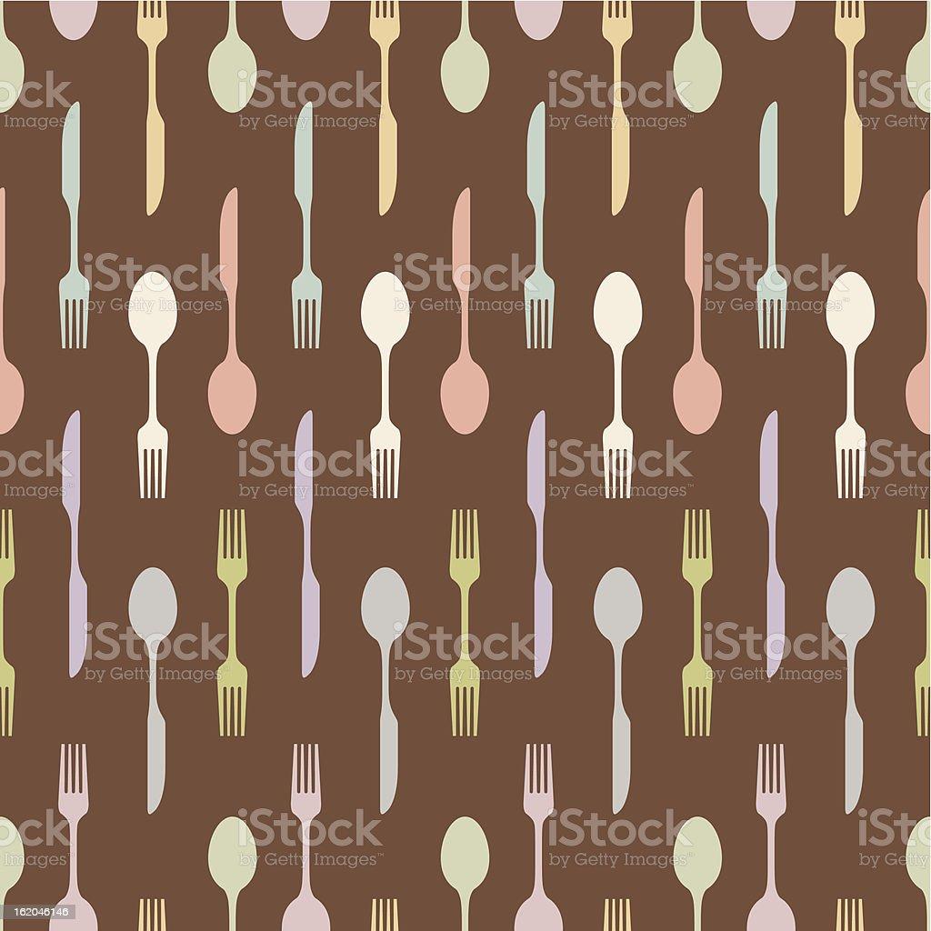 seamless cutlery crosses royalty-free stock vector art