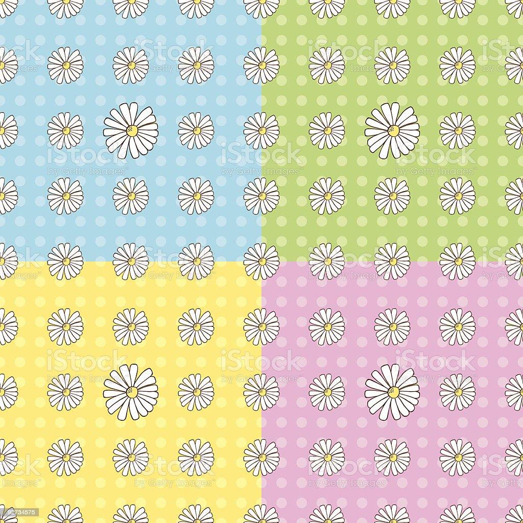 Seamless Daisy Pattern royalty-free stock vector art
