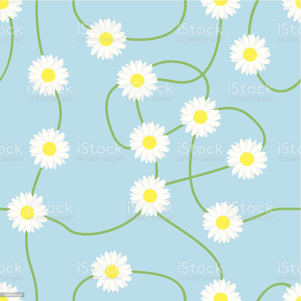 Seamless Daisy Wallpaper vector art illustration