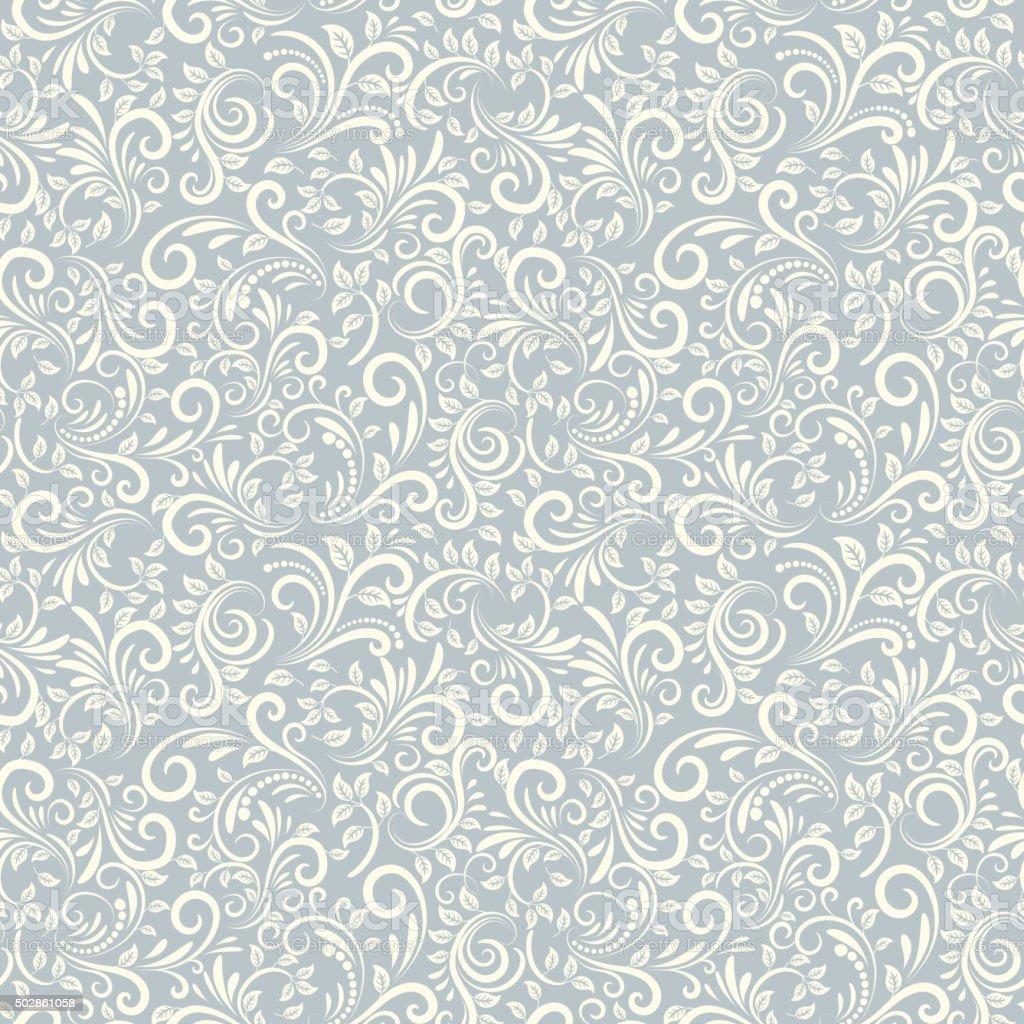 Seamless Damascus background vector art illustration