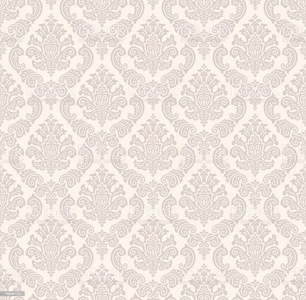 Seamless damask pattern in light colors vector art illustration