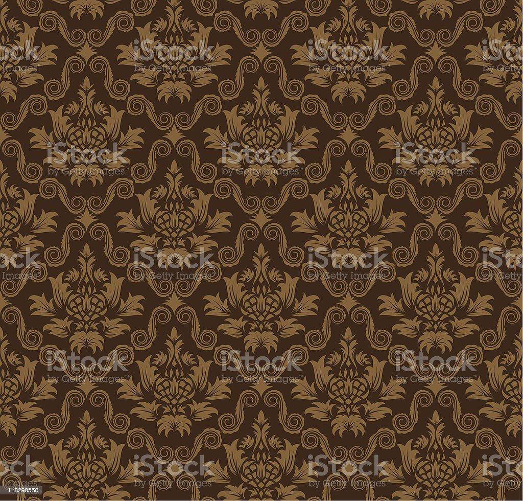 seamless damask pattern royalty-free stock vector art