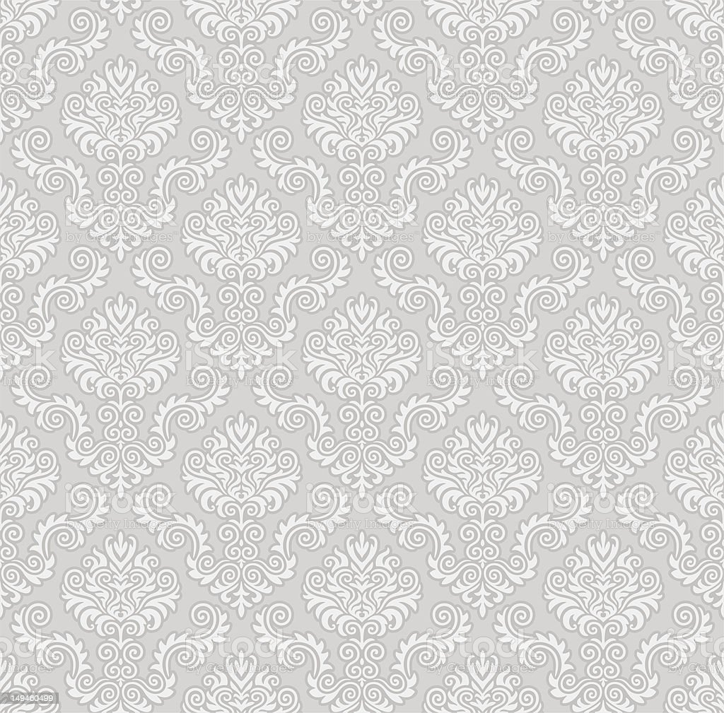 Seamless Damask Pattern vector art illustration