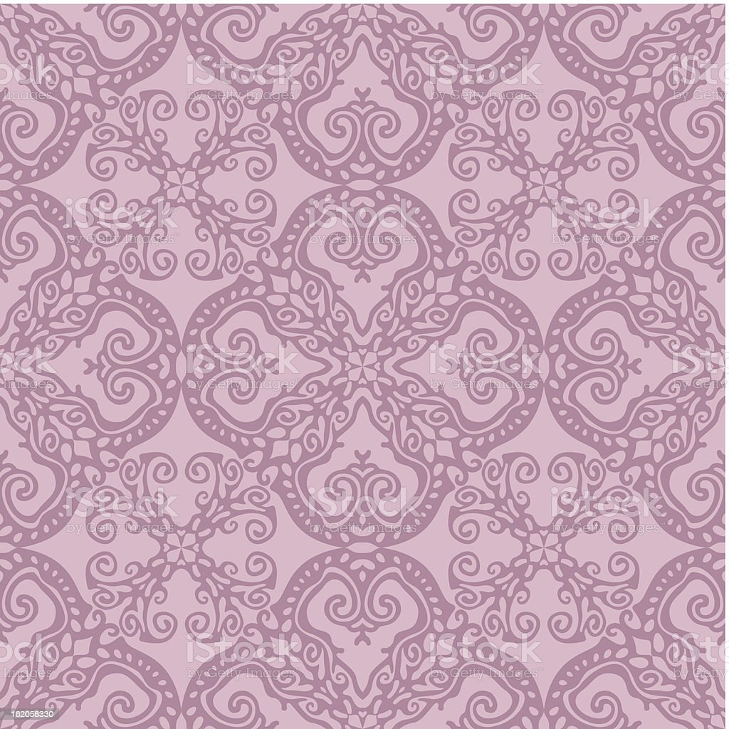 seamless damask wallpaper background royalty-free stock vector art