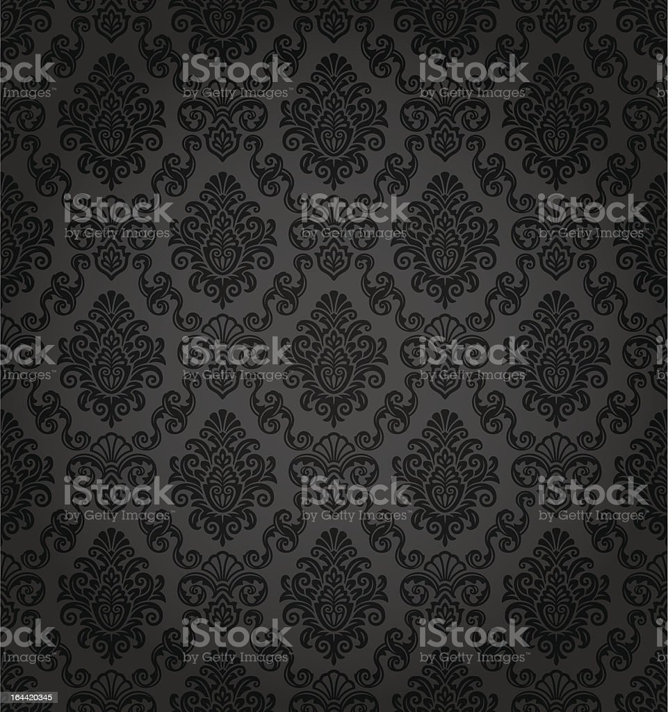 Seamless Damask Wallpaper royalty-free stock vector art